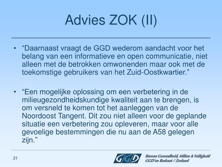 Advies ZOK (II)