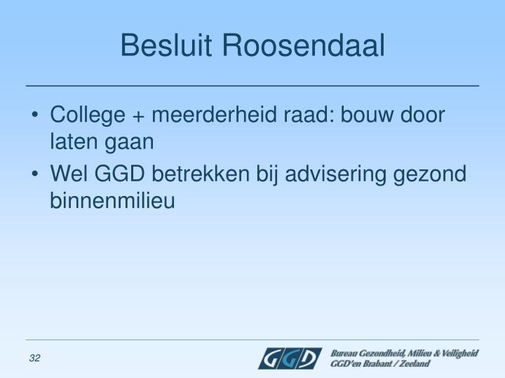 Besluit Roosendaal