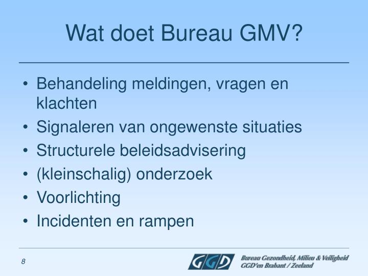 Wat doet Bureau GMV?