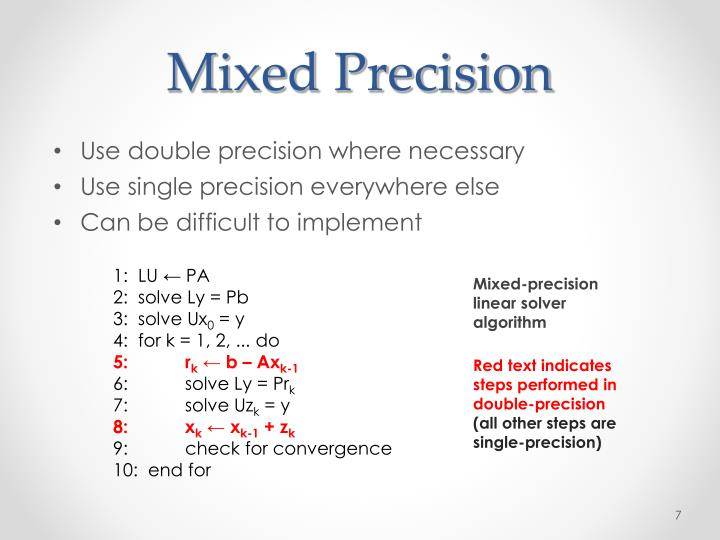 Mixed Precision