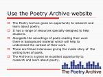 use the poetry archive website