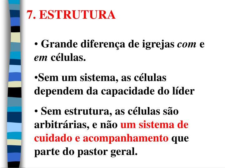 7. ESTRUTURA