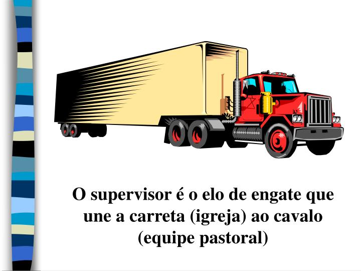 O supervisor é o elo de engate que une a carreta (igreja) ao cavalo (equipe pastoral)