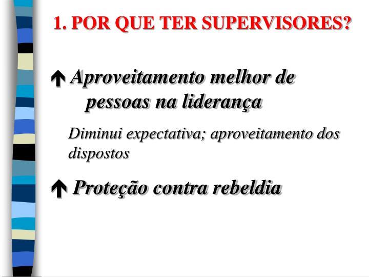 1. POR QUE TER SUPERVISORES?