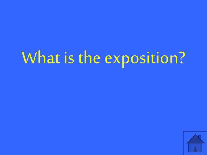 What is the exposition?