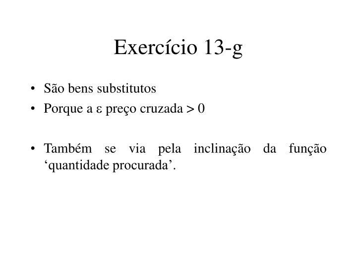 Exercício 13-g