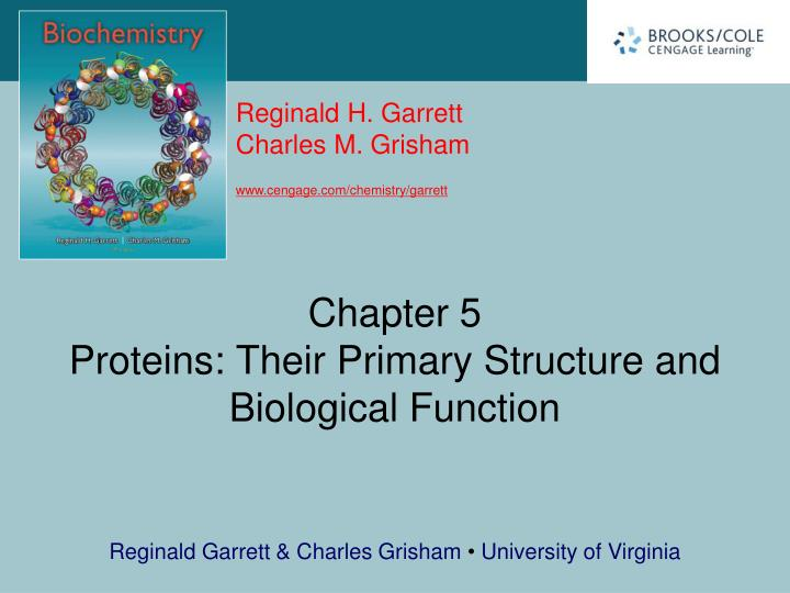 chapter 5 proteins their primary structure and biological function n.
