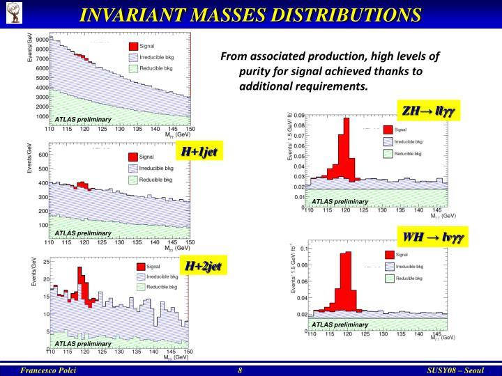 INVARIANT MASSES DISTRIBUTIONS