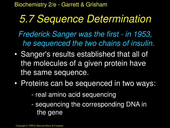 5.7 Sequence Determination