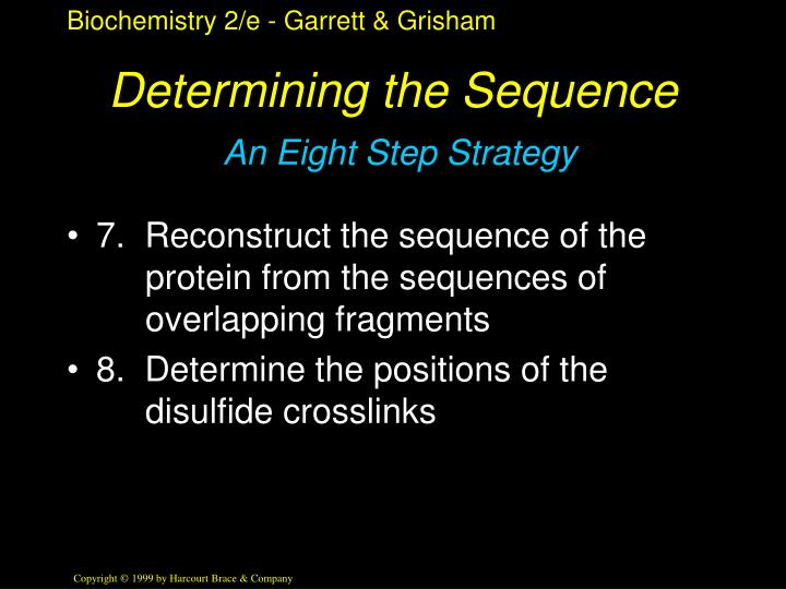 Determining the Sequence
