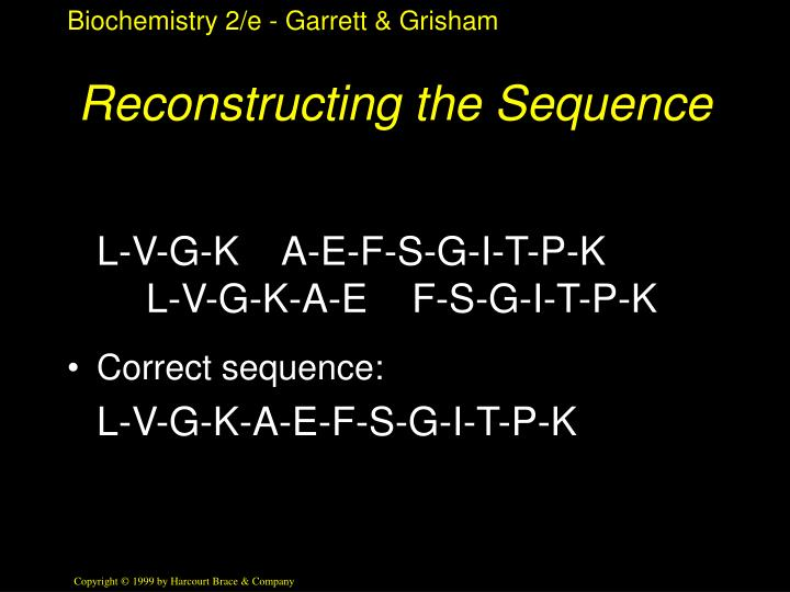 Reconstructing the Sequence