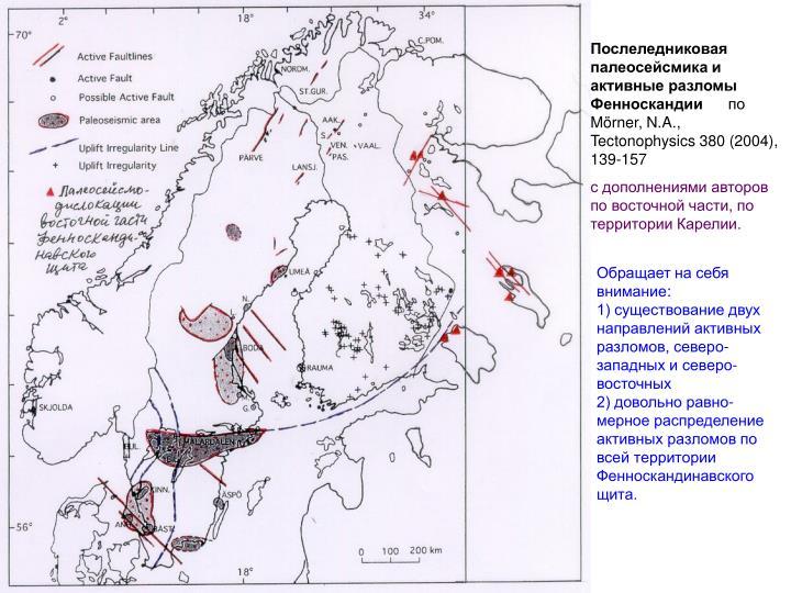 Послеледниковая палеосейсмика и активные разломы