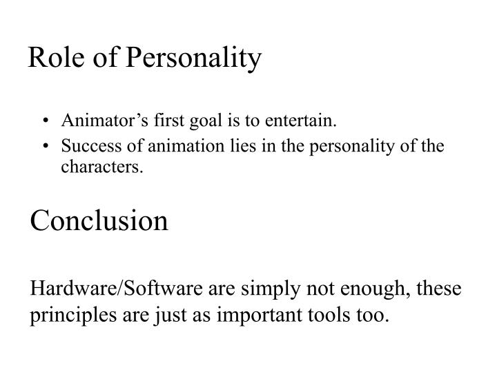 Role of Personality