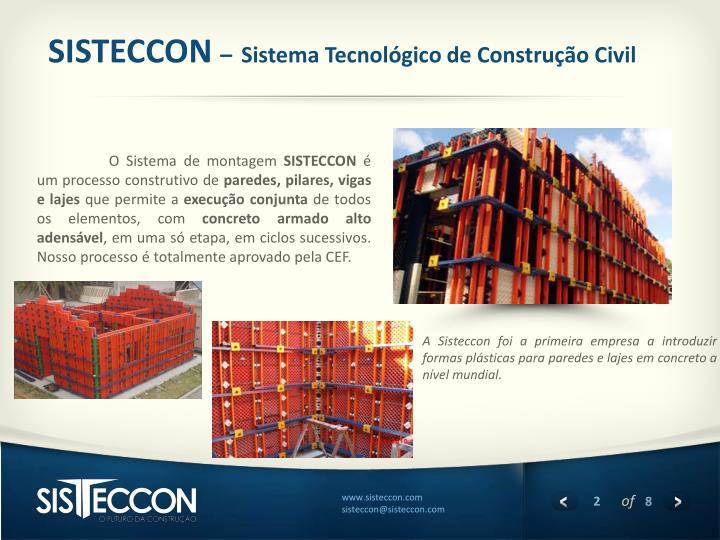 Sisteccon sistema tecnol gico de constru o civil
