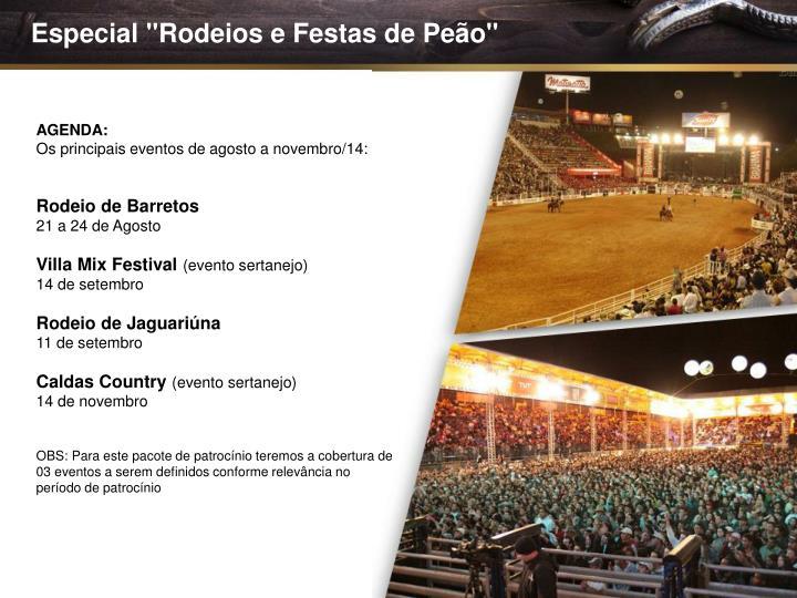 """Especial """"Rodeios e Festas de Peão"""""""