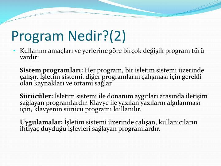 Program nedir 2