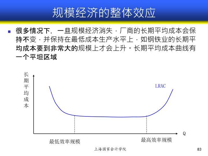 规模经济的整体效应