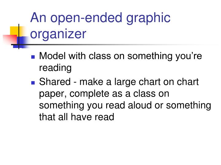 An open-ended graphic organizer