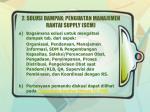2 solusi dampak penguatan manajemen rantai supply scm