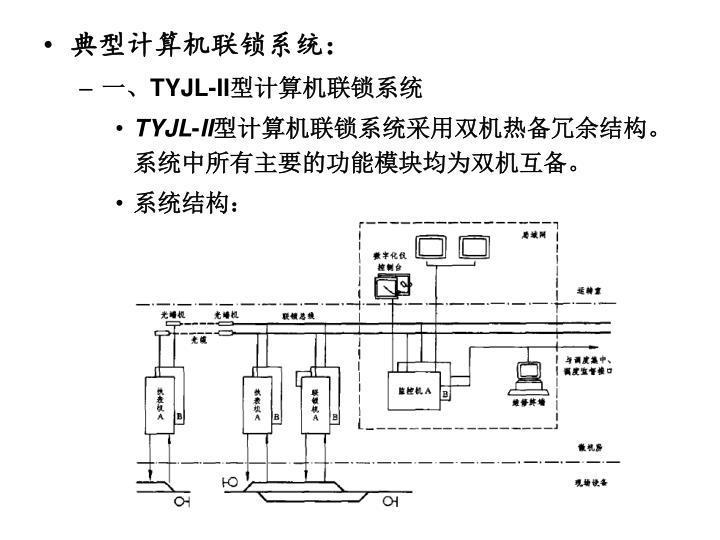 典型计算机联锁系统: