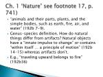 ch 1 nature see footnote 17 p 741