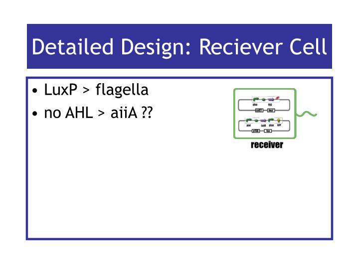 Detailed Design: Reciever Cell