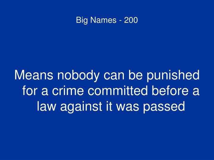 Big Names - 200