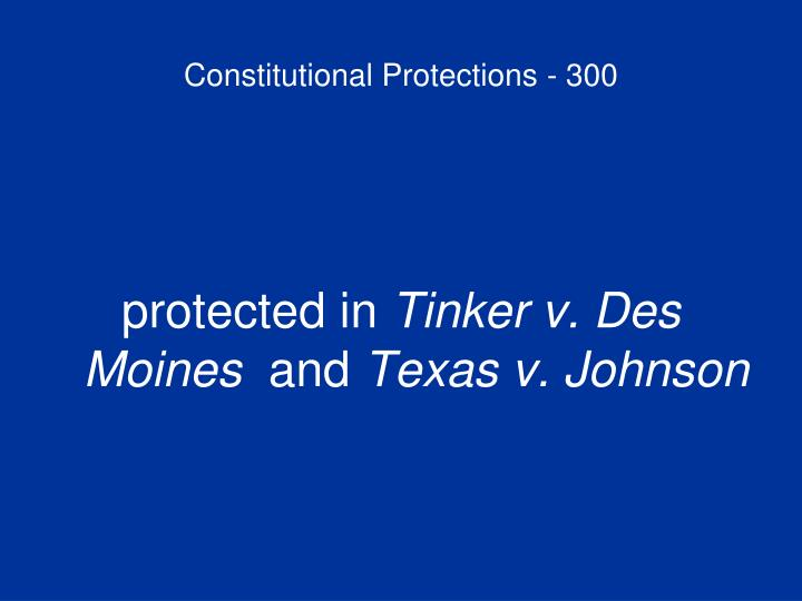 Constitutional Protections - 300