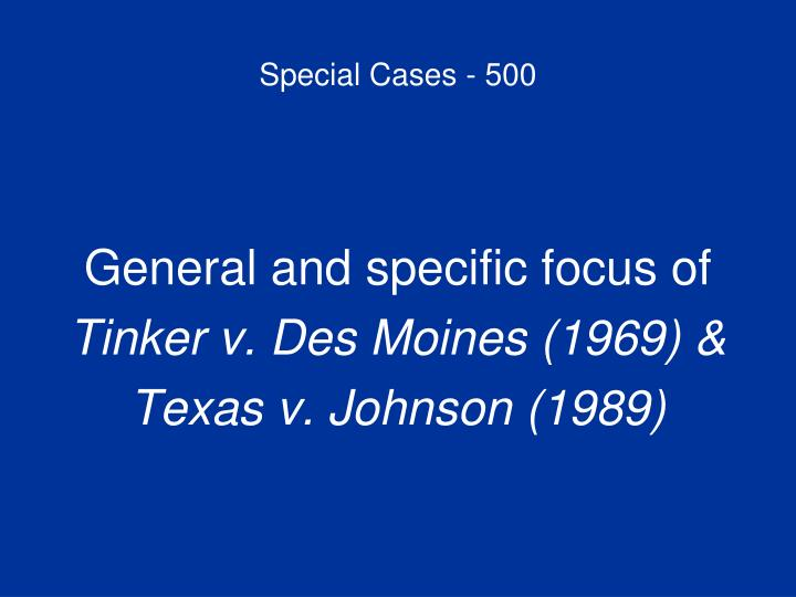 Special Cases - 500