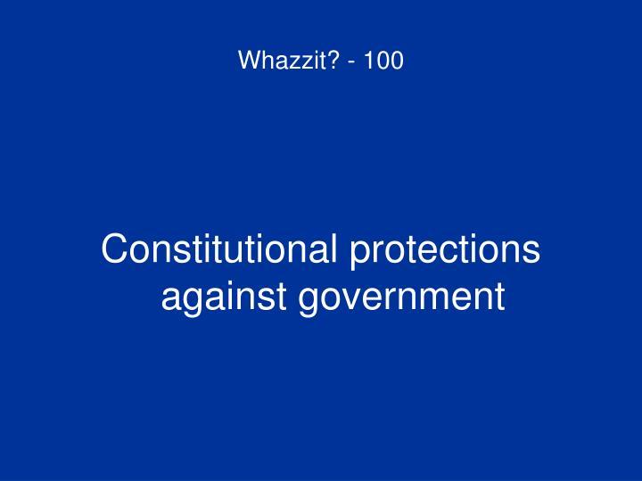 Whazzit? - 100