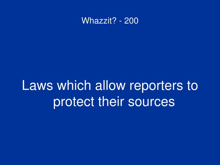 Whazzit? - 200