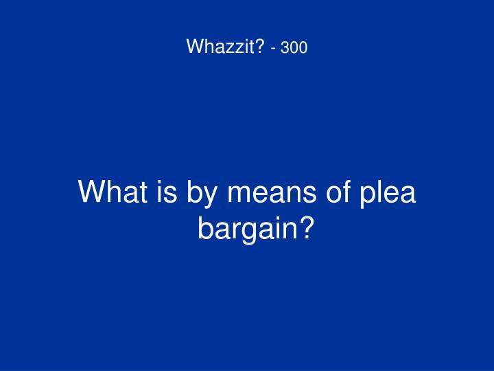 Whazzit?
