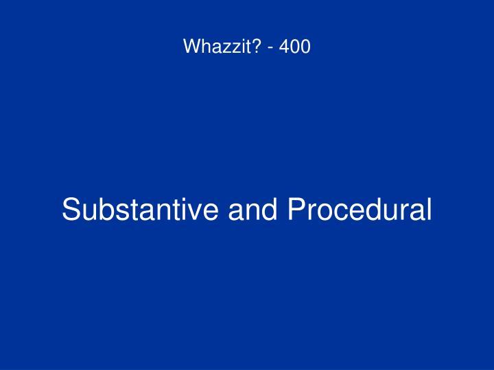 Whazzit? - 400