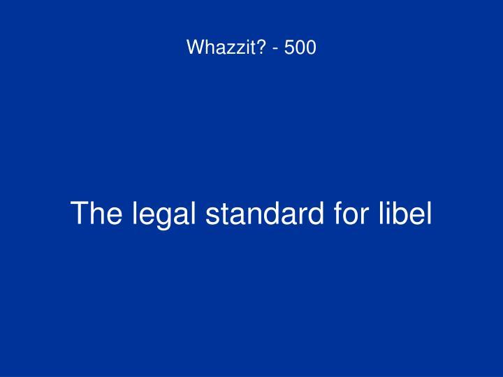 Whazzit? - 500