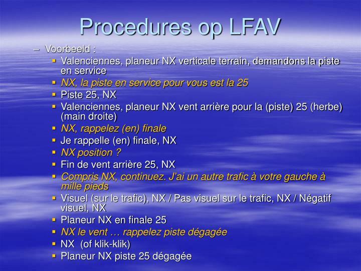 Procedures op LFAV