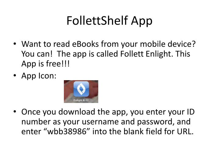 Follettshelf app