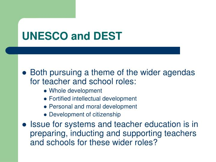 UNESCO and DEST