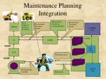 maintenance planning integration