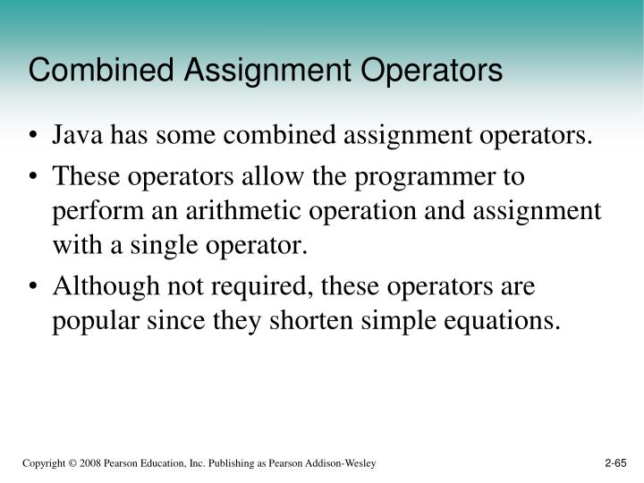 Combined Assignment Operators