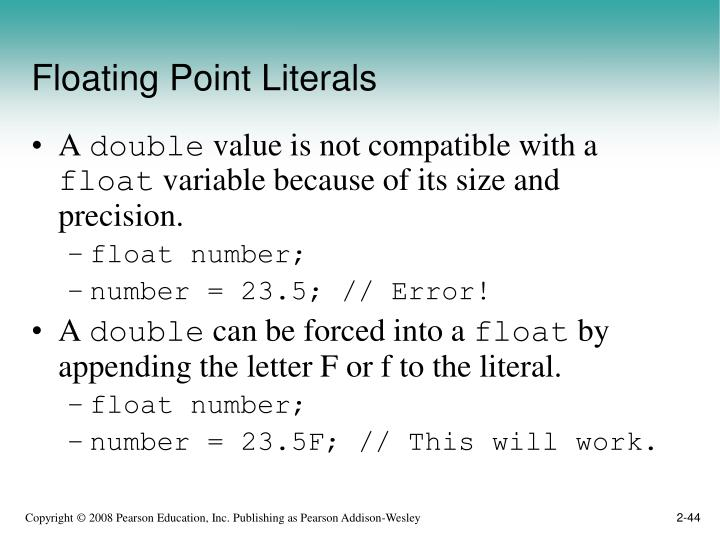 Floating Point Literals
