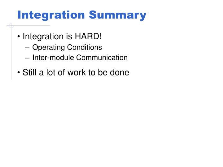 Integration Summary
