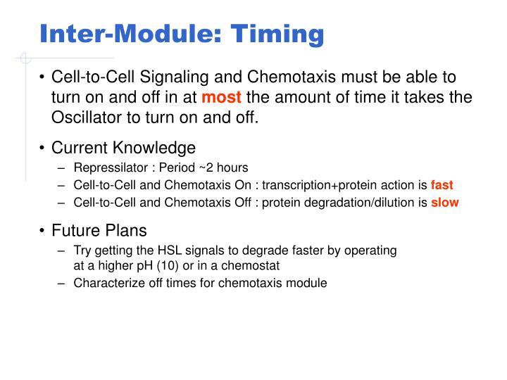Inter-Module: Timing