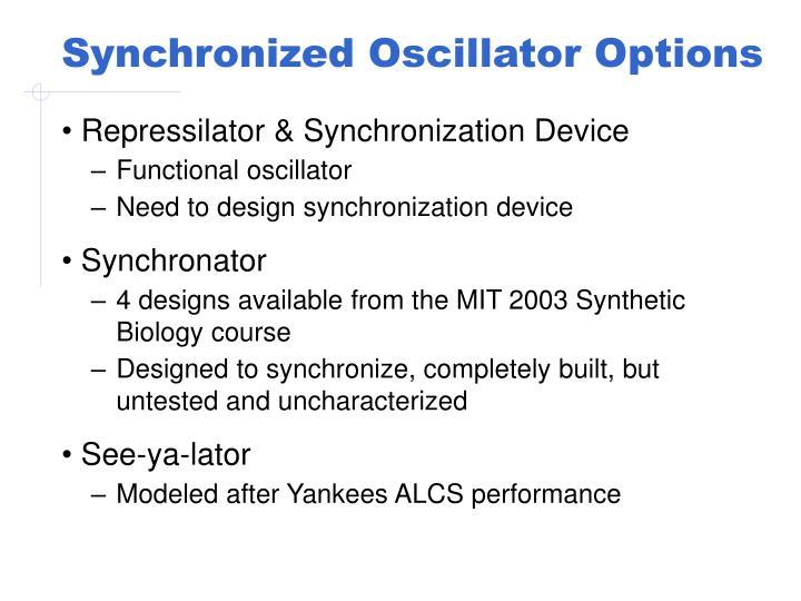 Synchronized Oscillator Options