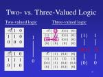 two vs three valued logic2