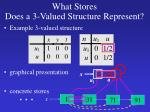 what stores does a 3 valued structure represent1