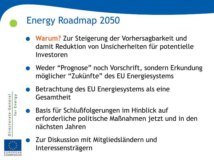 Energy Roadmap 2050