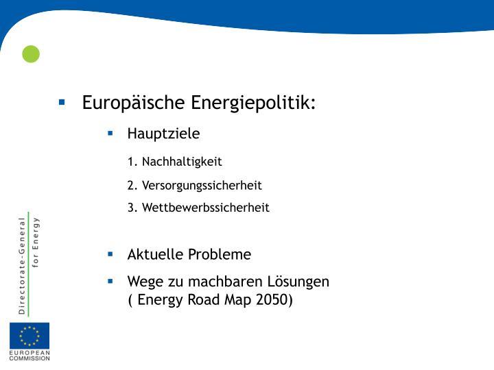 Europäische Energiepolitik: