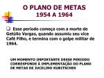 o plano de metas 1954 a 19641