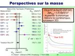 perspectives sur la masse