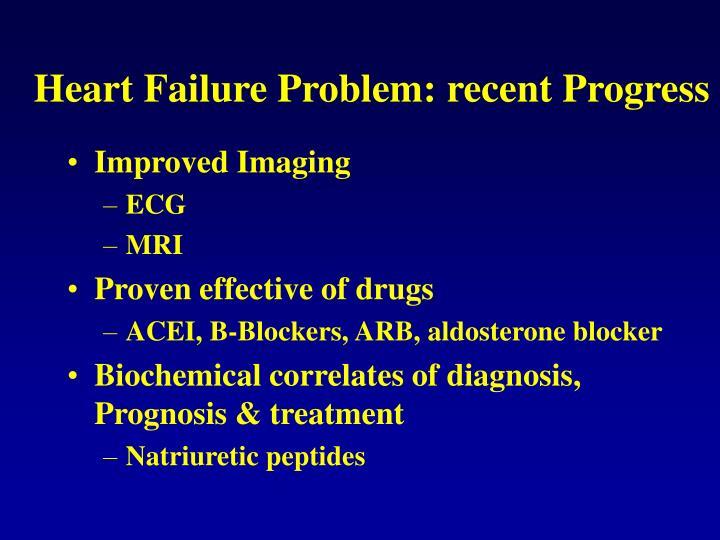 Heart failure problem recent progress
